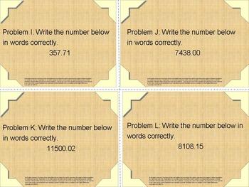 Task Cards: Number Sense Problem Solving
