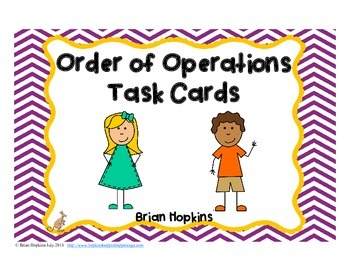 Task Cards for Order of Operations