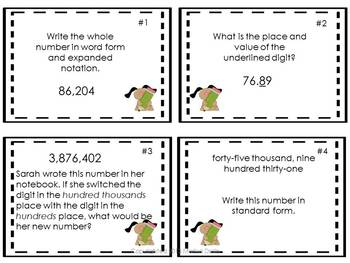 Place Value: Task Cards and PowerPoint Show