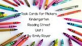 Task Cards for Plickers-Kindergarten-Reading Street Unit 1