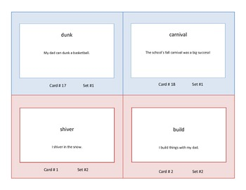 Task Cards for Practice in The Parts of Speech Grades 2-3