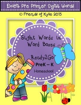 Task Cards for Pre Primer Sight Words