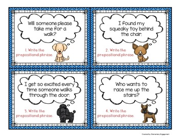 Prepositional Phrases Task Cards