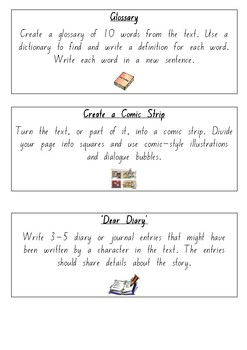 Task Cards for Reading Groups