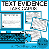 Text Evidence Task Cards Print and Digital Distance Learning