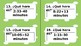 Task Cards for Spanish Numbers, Telling Time and Question Words