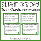 Task Cards for St. Patrick's Day Fact or Opinion