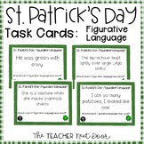 Task Cards for St. Patrick's Day Figurative Language | Fig