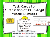 Task Cards for Subtraction of Multi-Digit Numbers 4.NBT.B.4