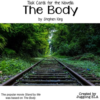 Task Cards for The Body by Stephen King
