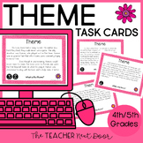Task Cards for Theme for 4th - 5th Grade | Theme Game | Theme Activity