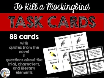 Task Cards for To Kill a Mockingbird by Harper Lee