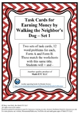 Task Cards for Walking the Neighbor's Dog - Set 1