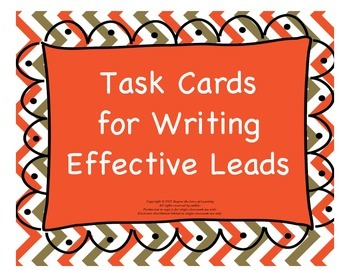Task Cards for Writing Effective Leads