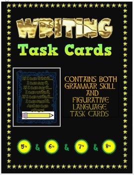 Task Cards for Writing - Grammar Skills and Figurative Language