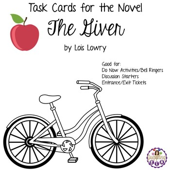 Task Cards for the Novel The Giver by Lois Lowry