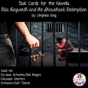 Task Cards for the Novella Rita Hayworth and the Shawshank Redemption