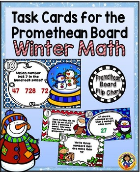 Task Cards for the Promethean Board ~ Winter Math