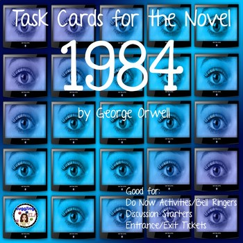 Task Cards for the novel 1984 by George Orwell
