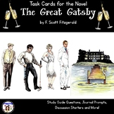 Task Cards for the Novel The Great Gatsby by F. Scott Fitzgerald