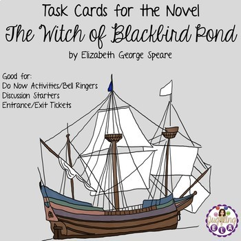 Task Cards for the novel The Witch of Blackbird Pond by Elizabeth George Speare