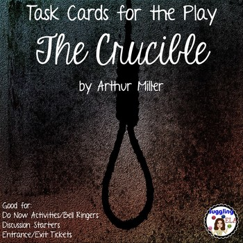 Task Cards for the play The Crucible by Arthur Miller