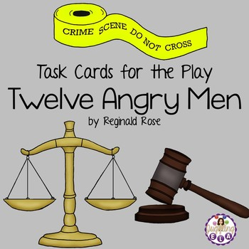Task Cards for the play Twelve Angry Men by Reginald Rose