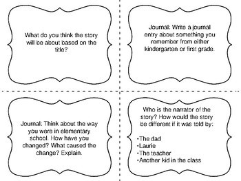 """Task Cards for the Short Story """"Charles"""" by Shirley Jackson"""