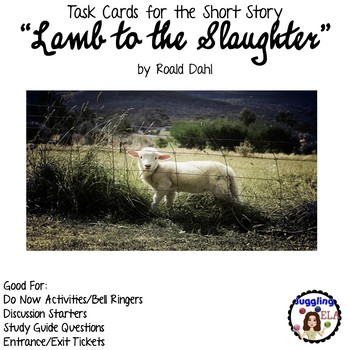 """Task Cards for the short story """"Lamb to the Slaughter"""" by"""
