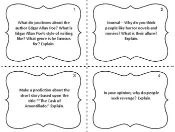 Task Cards for the Short Story