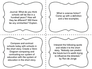 "Task Cards for the short story ""The Fun They Had"" by Isaac Asimov"
