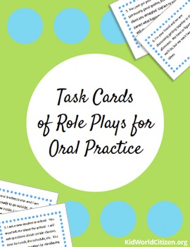 Task Cards of Role Plays for Oral Practice for English, Spanish, French and more