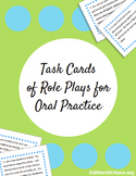 Task Cards of Role Plays for Oral Practice for English, Sp