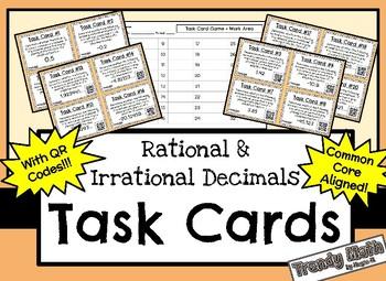 Task Cards on Rational & Irrational Decimals