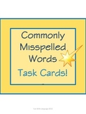 Task Cards or Scoot for Commonly Misspelled Words Spelling