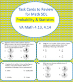 28 Task Cards to Review Probability & Statistics for 4th Grade Math SOL 2016 SOL