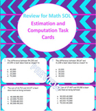40 Task Cards to Review for 4th Grade Computation and Estimation Math SOL 2016