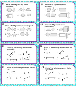 Task Cards to Review for Math SOL Geometry
