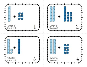 Place Value Task Cards - Addition