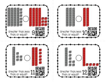 Place Value Task Cards : Comparing Numbers