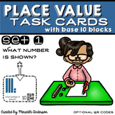 Place Value Task Cards with Base 10 Blocks: What Number is Shown?