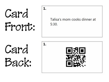 Task Cards with QR Codes - A.M. and P.M. + PowerPoint Slides in PDF Format