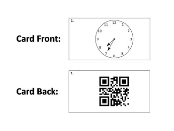 Task Cards with QR Codes - Time with Five Minute Intervals