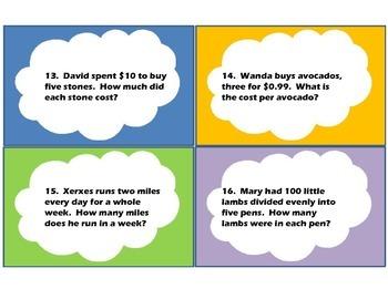 Multiplication/Division Word-Problem Task Cards