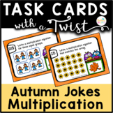 Task Cards with a Twist: Fall/Autumn Owls Multiplication Jokes-Riddles-QR Codes