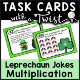 Task Cards with a Twist: Leprechaun Chase Multiplication Animated QR Codes-Jokes