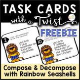 Task Cards with a Twist Seashells Compose Decompose to 10