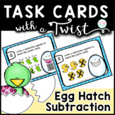 Task Cards with a Twist: Spring Subtraction Egg Hatch Surprise Animated QR-Jokes