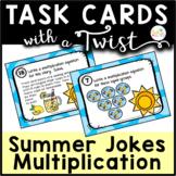 Task Cards with a Twist: Summer Fun Multiplication Jokes-R