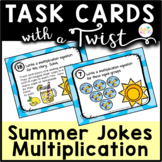Task Cards with a Twist: Summer Fun Multiplication Jokes-Riddles-QR Codes
